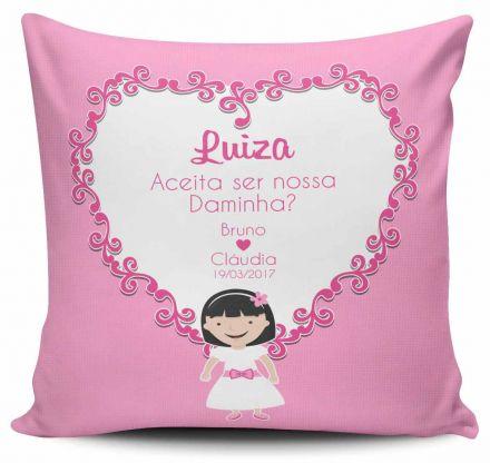 Almofada Personalizada Casamento Convite Daminha