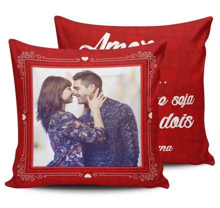 Almofada Personalizada Com Foto Amor Que Seja Doce Que Seja Leve Que Seja Nós Dois