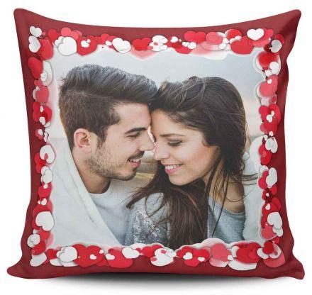 Almofada Personalizada Com Foto Corações