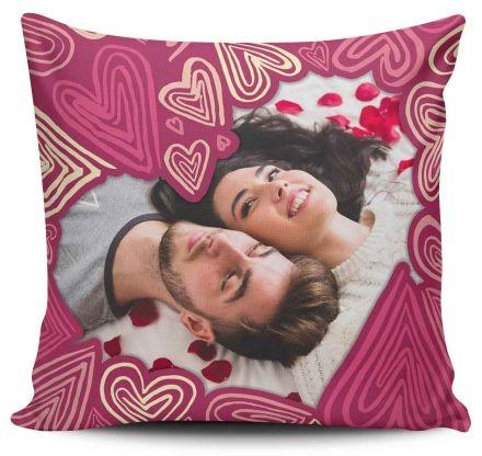 Almofada Personalizada Com Foto Corações Mosaico Corações