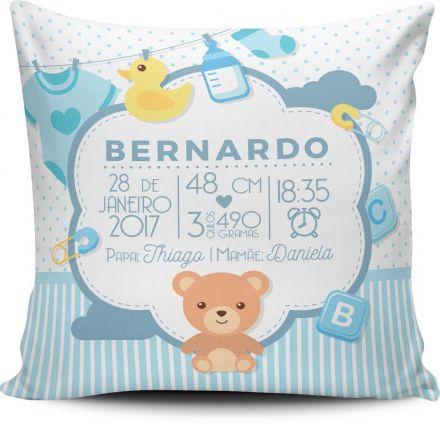 Almofada Personalizada Dados de Nascimento do Bebê