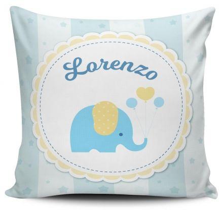 Almofada Personalizada Elefantinho Azul
