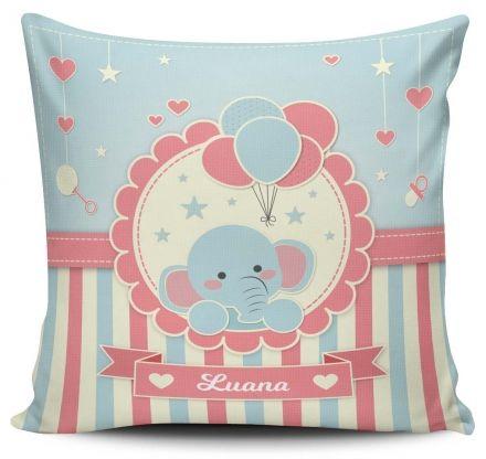Almofada Personalizada Elefantinho Menina