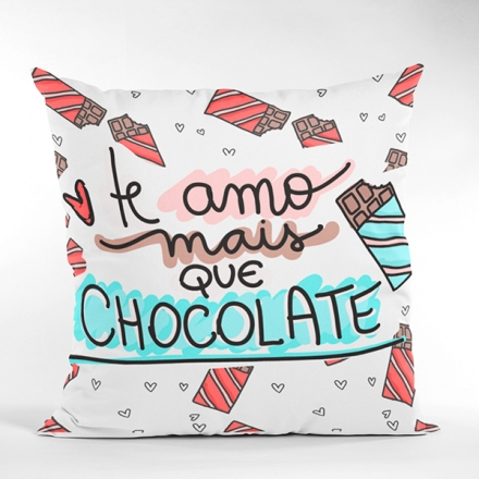 Almofada Te Amo Mais Que Chocolate - CA1324