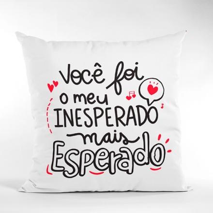 Almofada Você Foi o Meu Inesperado Mais Esperado - CA1313