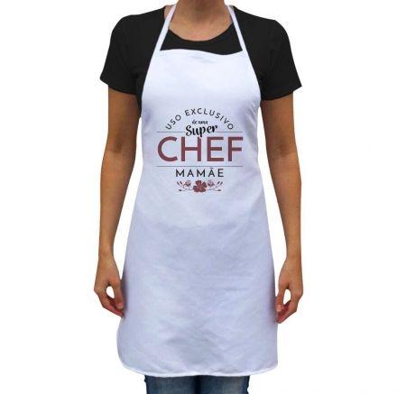 Avental Para Uso Exclusivo de Uma Super Chef Mamãe Branco