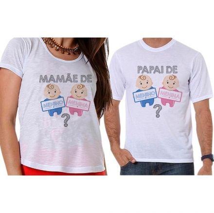 Bata e Camiseta Chá Revelação Menino ou Menina Bebê