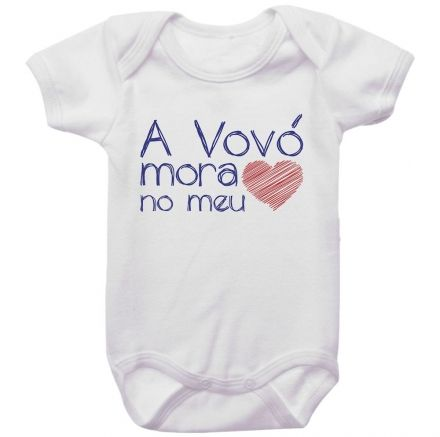 Body Bebê A Vovó Mora No Meu Coração