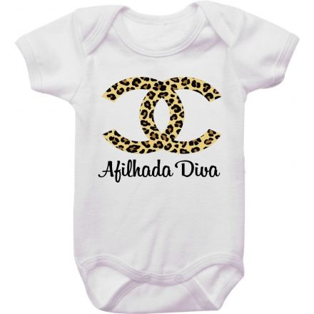 Body Bebê Chanel Afilhada Diva