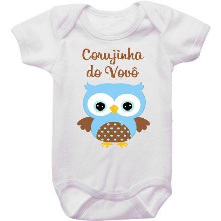 Body Bebê Corujinha do Vovô