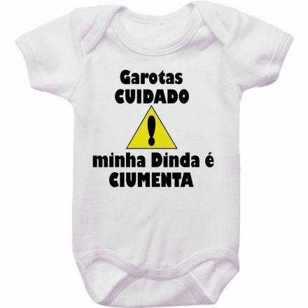 Body Bebê Cuidado Minha Dinda é Ciumenta