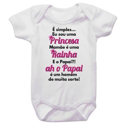 Body Bebê É Simples Eu Sou uma Princesa