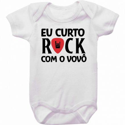 Body Bebê Eu Curto Rock Com O Vovô