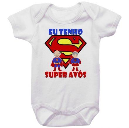 Body Bebê Eu Tenho Super Avós