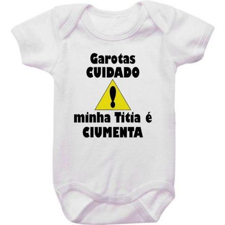 Body Bebê Garotas Cuidado Minha Titia É Ciumenta