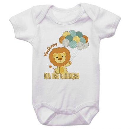 Body Bebê Meu Primeiro Dia Das Crianças Leão