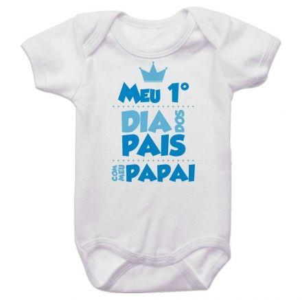 Body Bebê Meu Primeiro Dia dos Pais Com Meu Papai BO0235