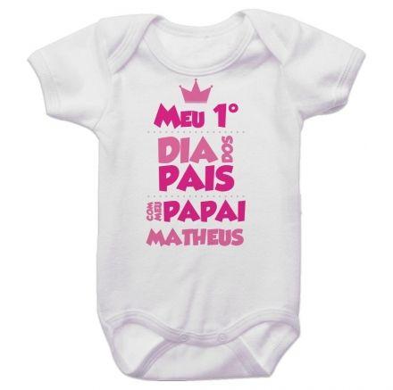 Body Bebê Meu Primeiro Dia dos Pais Com Meu Papai BO0240