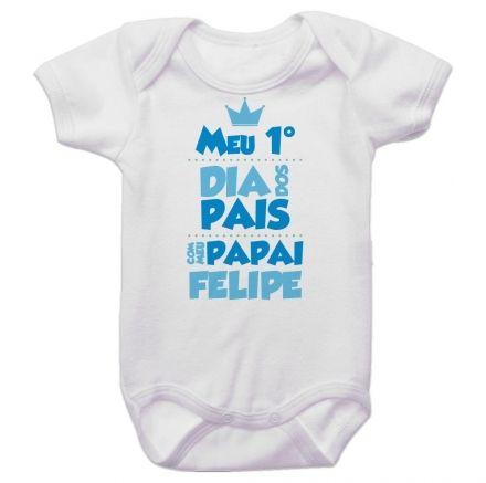 Body Bebê Meu Primeiro Dia dos Pais Com Meu Papai BO0241