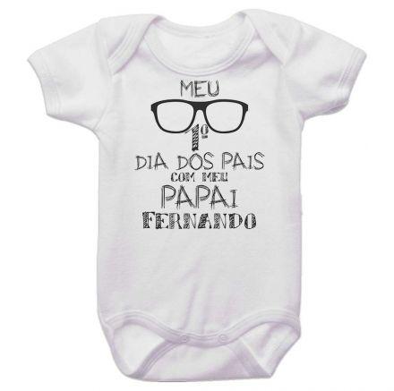 Body Bebê Meu Primeiro Dia dos Pais Com Meu Papai BO0244