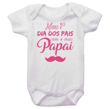 Body Bebê Meu Primeiro Dia dos Pais Com Meu Papai BO0252