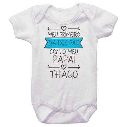 Body Bebê Meu Primeiro Dia dos Pais Com Meu Papai BO0262