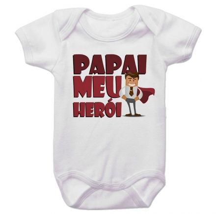 Body Bebê Papai Meu Herói