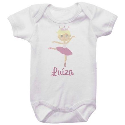 Body Bebê Personalizado Bailarina