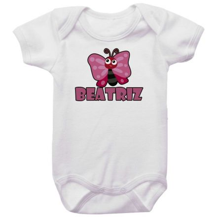 Body Bebê Personalizado Borboleta
