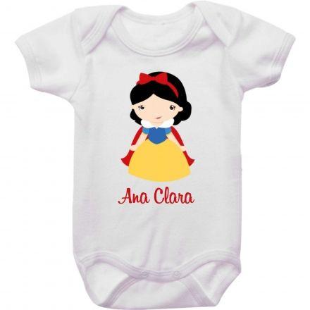 Body Bebê Personalizado Branca de Neve