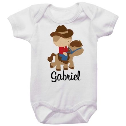 Body Bebê Personalizado Cowboy
