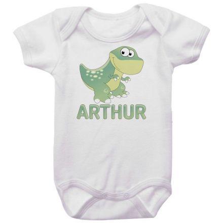 Body Bebê Personalizado Dinossauro