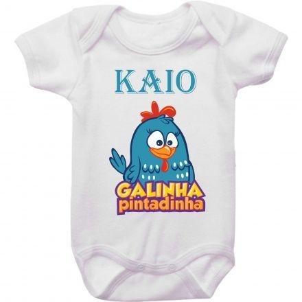 Body Bebê Personalizado Galinha Pintadinha