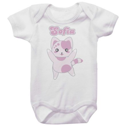 Body Bebê Personalizado Gatinha