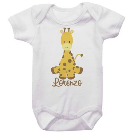 Body Bebê Personalizado Girafa