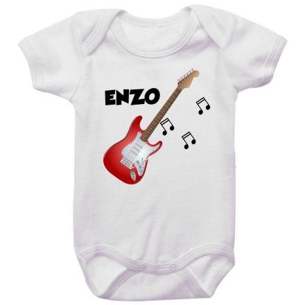 Body Bebê Personalizado Guitarra