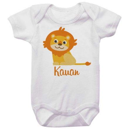 Body Bebê Personalizado Leãozinho