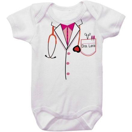 Body Bebê Personalizado Médica