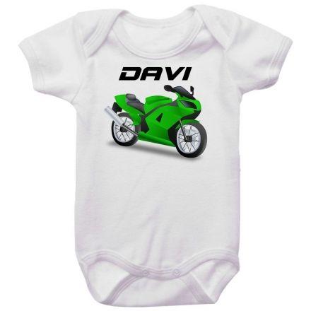 Body Bebê Personalizado Moto