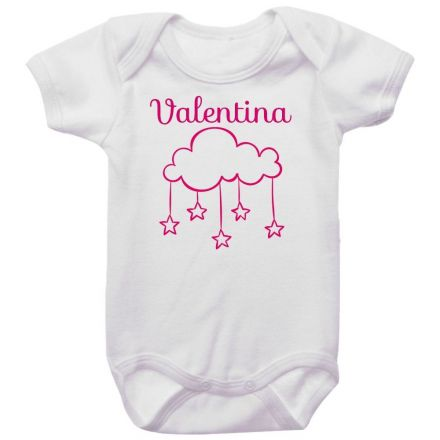 Body Bebê Personalizado Nuvem Rosa