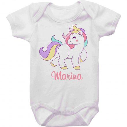 Body Bebê Personalizado Unicórnio