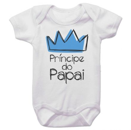 Body Bebê Príncipe do Papai Coroa Azul