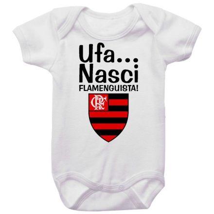 Body Bebê Ufa Nasci Flamenguista
