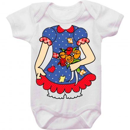 Body Bebê Vestido de Jeca