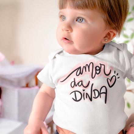 Body de Bebê Amor da Dinda - CA1248