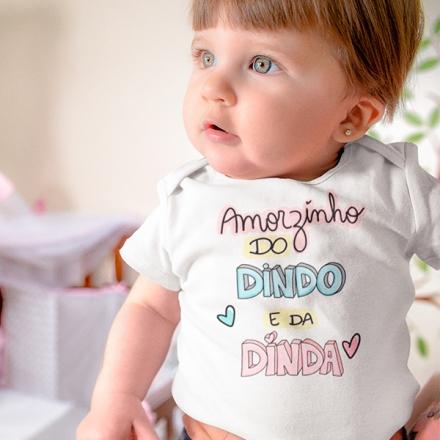 Body de Bebê Amorzinho do Dindo e da Dinda - CA1242