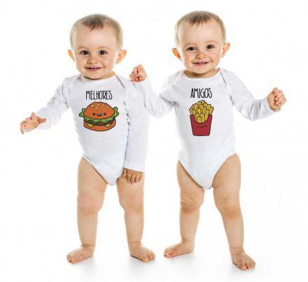 Body de Bebê Gêmeos Diverto Melhores Amigos BO0216