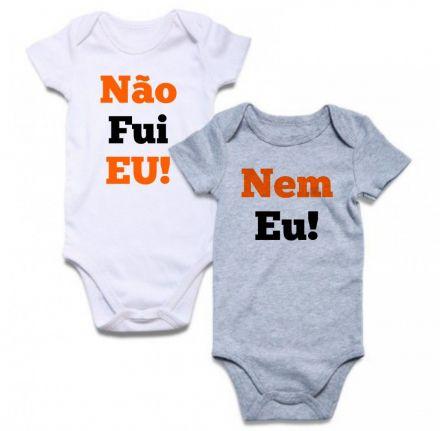 Body de Bebê Gêmeos Diverto Não Fui Eu Nem Eu BO0217