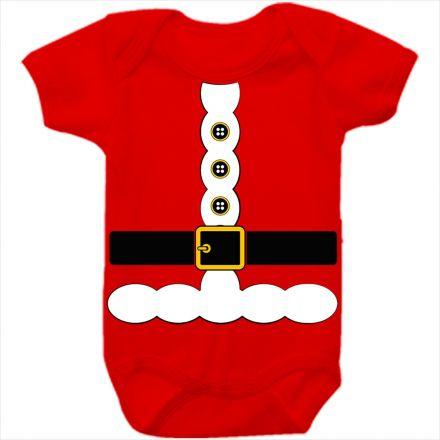 Body de Bebê Meu Primeiro Natal Vermelho 100% Algodão FN0040