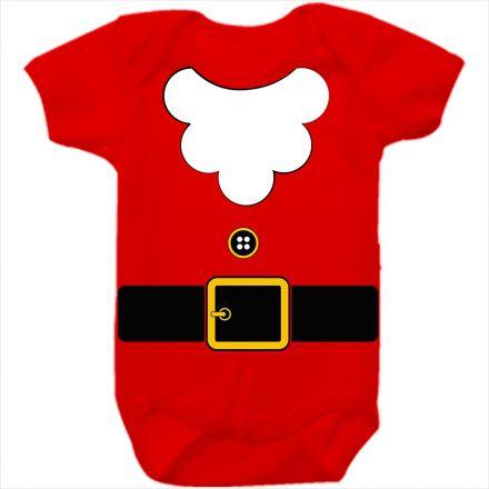 Body de Bebê Meu Primeiro Natal Vermelho 100% Algodão FN0042